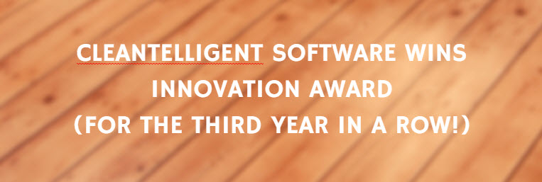 CleanTelligent Software Wins Innovation Award (For the Third Year in a Row!)